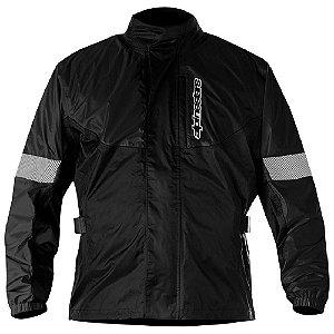 Jaqueta Moto Alpinestars Hurricane Rain Preta Impermeável