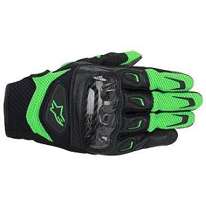 Luva Moto Alpinestars SMX-2 Air Carbon Verde Preta