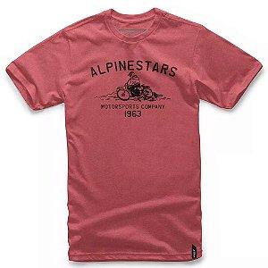 Camiseta Alpinestars Burnout Vermelha