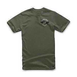 Camiseta Alpinestars Fierce Verde Militar