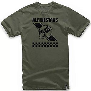 Camiseta Alpinestars Attitude Verde Militar
