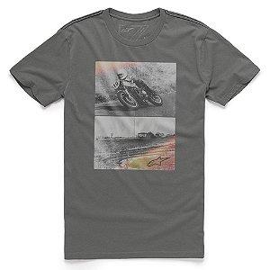 Camiseta Alpinestars Stack Cinza Escuro
