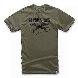Camiseta Alpinestars Ratchet Verde Militar