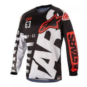 Camisa Alpinestars Youth Racer Braap 18 Pt Br Vm