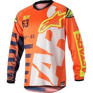 Camisa Alpinestars Youth Racer Braap 18 Lj Az Esc Br