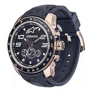 Relógio Alpinestars Tech Chrono Dourado Silicone