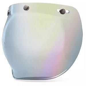 Viseira Bolha Bell Bubble Prata Iridium