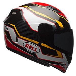 Capacete Moto Bell Qualifier Torque Preto Dourado