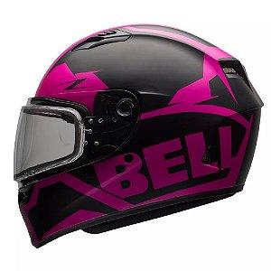 Capacete Moto Bell Qualifier Momentum Fosco Pink Black Snow