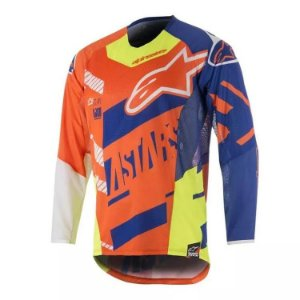 Camisa Alpinestars  Youth Race Screamer 18 Lr Az Br Am