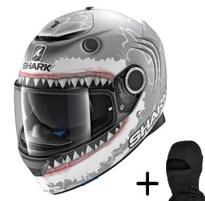 Capacete Moto Shark Spartan Lorenzo Réplica Cinza SWA