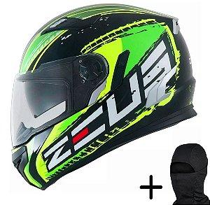Capacete Moto Zeus 813 AN13 Solid Preto Verde