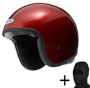 Capacete Moto Zeus 380H Burgundy Vermelho
