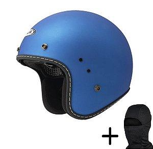 Capacete Moto Zeus 380H Matt Metálico Azul