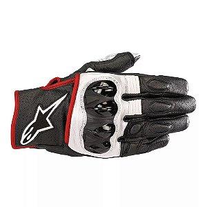 Luva Moto Alpinestars Celer V2 Preta Branca Vermelha