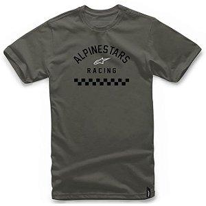 Camiseta Alpinestars Front Verde Militar