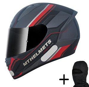 Capacete Moto MT Stinger Pole Fosco Gunmetal Preto