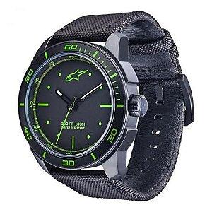 Relógio Alpinestars Tech Preto Verde Nailon