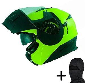 Capacete Moto Zeus 3020 Fluo Amarelo AB12 Preto