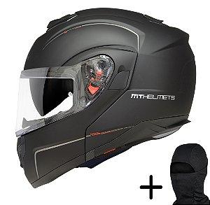 Capacete Moto MT Atom Solid Fosco Preto