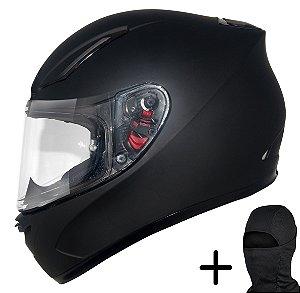 Capacete Moto MT Revenge Solid Fosco Preto