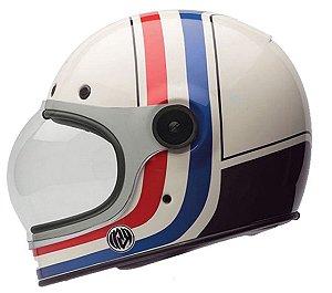 Capacete Moto Bell Bullitt RSD Viva Branco