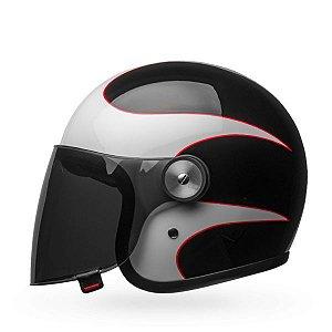Capacete Moto Bell Riot Boost Branco Preto Vermelho