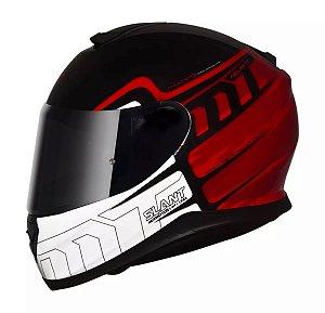 Capacete Moto MT Thunder 3 Slant Preto Vermelho