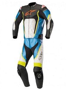 Macacão Moto Alpinestars Motegi V2 2 Pc Pt Br Az Am