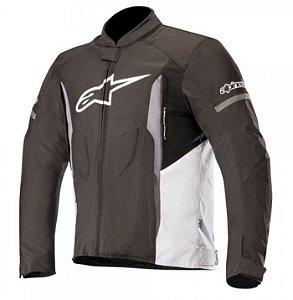 Jaqueta Moto Alpinestars T-Faster Preta Branca Cinza