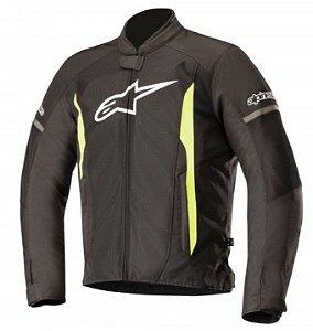 Jaqueta Moto Alpinestars T-Faster Preta Amarela Verão