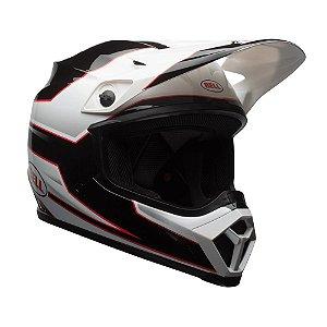 Capacete Moto Bell MX-9 MIPS Stryker Preto Branco