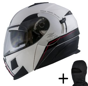 Capacete Moto Zeus 3020 Solid Branco AB11 Preto