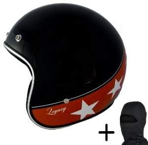 Capacete Moto Zeus 380H Solid Preto K57 Laranja
