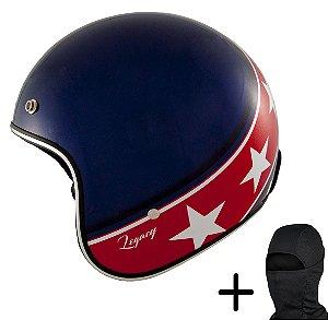 Capacete Moto Zeus 380H Azul K57 Vermelho
