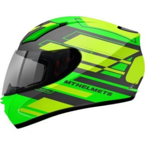 Capacete Moto Mt Revenge Zusa Green Fluor