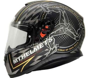 Capacete Mt Thunder3 Isle Matt Black\Gold