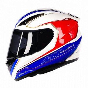 Capacete Moto MT Revenge Limited Evo Branco Azul
