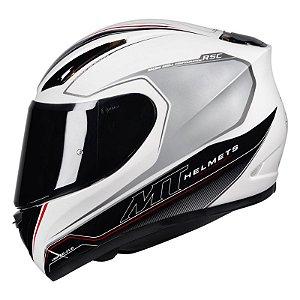 Capacete Moto MT Revenge Limited Evo Branco Preto