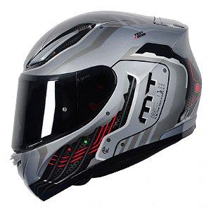 Capacete Moto Mt Revenge Cyborg Silver/Grey