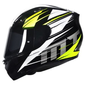 Capacete Moto Mt Revenge Twist Yellow Fluor