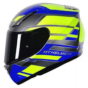 Capacete Moto MT Revenge Zusa Blue