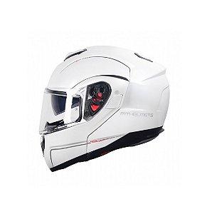 Capacete Moto MT SV Atom Solid Gloss Branco