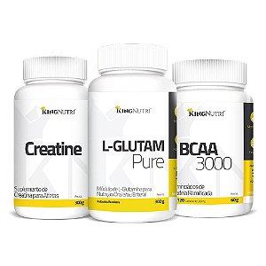 Combo - L-Glutam Pure 300g + BCAA 3000 + Creatine 300g