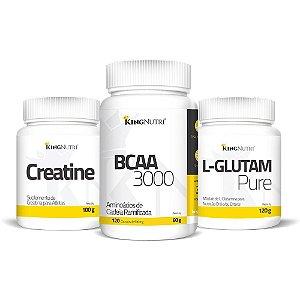 Combo - L-Glutam Pure 120g + BCAA 3000 + Creatine 100g