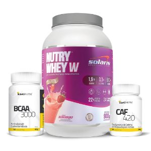 Combo: Nutry Whey W + BCAA 3000 + CAF 420