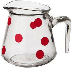 Jarra leiteira bolinha vermelho