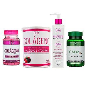 Kit Colágeno Hidrolisado com Vitamina C e Q10 Mais Saúde E Beleza Para Sua Pele + Calm Plus