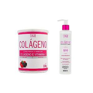 Colageno Hidrolisado em po com vitamina C e creme Q10