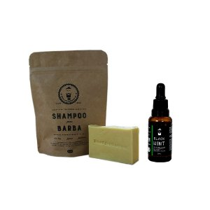 Shampoo e óleo para barba Black Mint 30ml